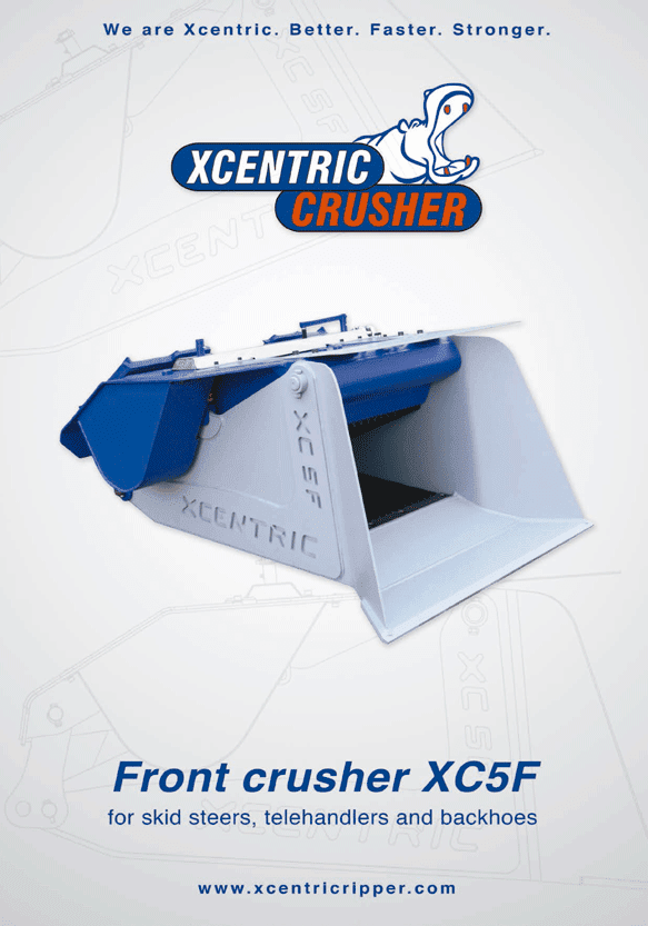 XCENTRIC FRONT CRUSHER XC5F BROCHURE